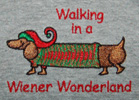 Walking In A Wiener Wonderland Human SHORT SleeveTee