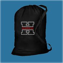 #2 Black Cotton Laundry Bag, Monogrammed Graduation Gifts
