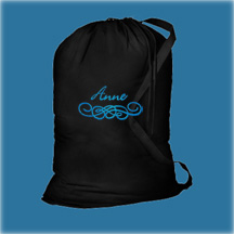 Black Cotton Laundry Bag, Personalized Graduation Gifts