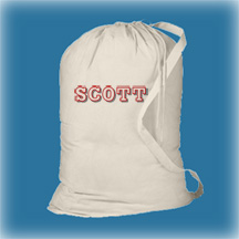 Off White Cotton Laundry Bag, Personalized Graduation Gifts