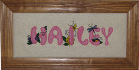 Girl Alphabet Name Picture