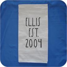 Embroidered Rae Dunn Inspired Flour Sack Kitchen Towels -  Established