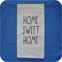 Embroidered Rae Dunn Inspired Flour Sack Kitchen Towels -  Home Sweet Home