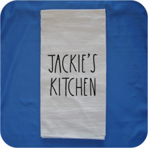 Embroidered Rae Dunn Inspired Flour Sack Kitchen Towels -  Name's Kitchen