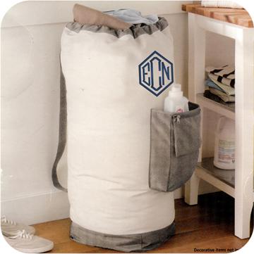 Pocket Laundry Bag - Large Personalized Laundry Bag With Pocket - Dorm Laundry Bag with Pocket and Carrying Strap - Monogrammed Laundry Bag - Graduation Gift