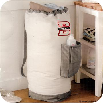 #1 Pocket Laundry Bag - Large Monogrammed Laundry Bag - Graduation Gift