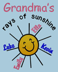 Grandma's Rays of Sunshine Shirts
