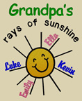 Grandpa's Rays of Sunshine Shirts